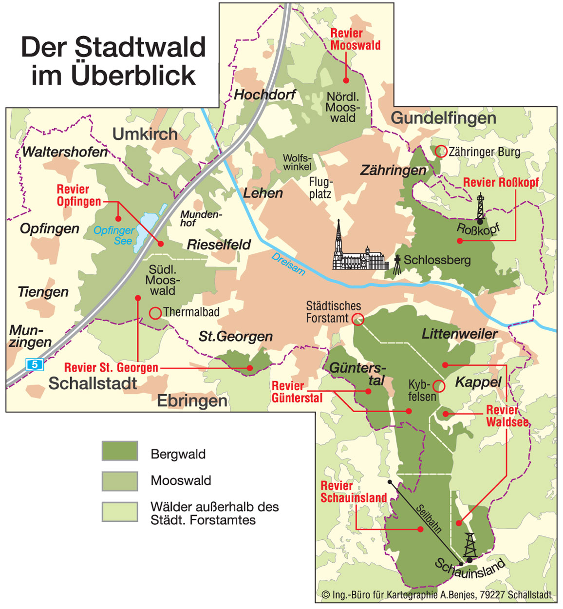 Freiburg Karte Stadtteile.Waldfakten Www Freiburg De