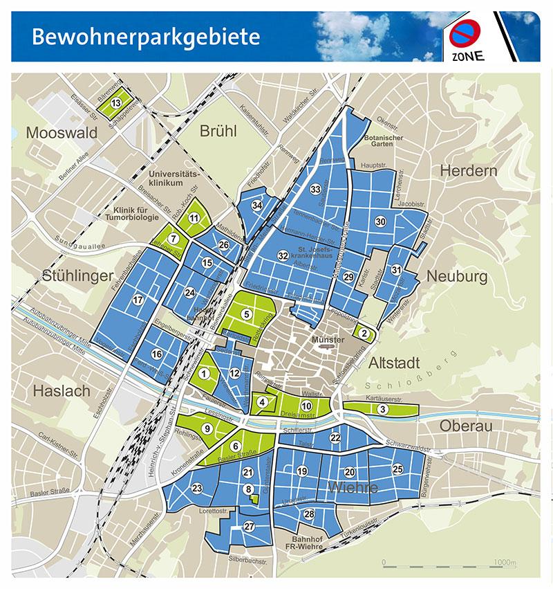 Freiburg Karte Stadtteile.Bewohnerparken Www Freiburg De