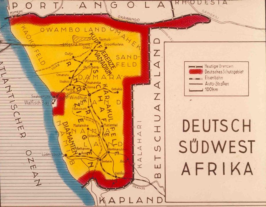 Karte Afrika Kolonien.Deutsch Sudwestafrika